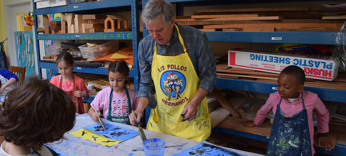 Lower School Students Collaborate with Artist in Residence