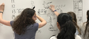 Middle School Girls Work Together to Solve Math Challenge
