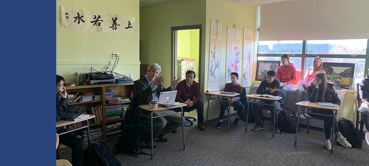 Upper School Chinese Classes Welcome Guest Speaker