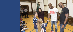 New England Patriots' Players Make Surprise Visit to Lower School