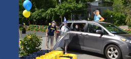 Eighth Graders Celebrate Closing in Drive-Thru Style